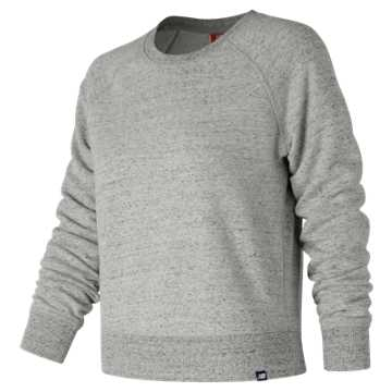 New Balance Heathered Crew, Athletic Grey