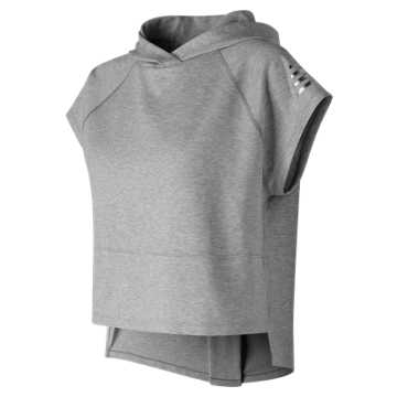 New Balance 247 Sport Cropped Hoodie, Athletic Grey