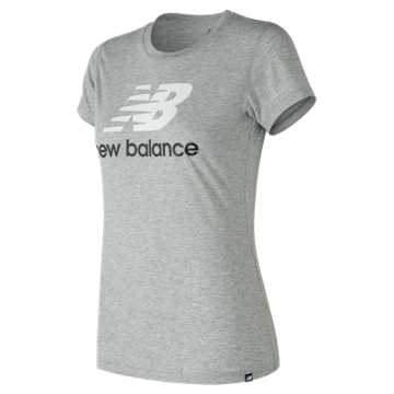 New Balance NB Logo Tee, Athletic Grey with White