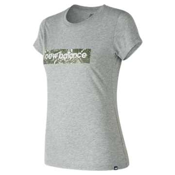 New Balance Essentials Palm Camo Tee, Athletic Grey