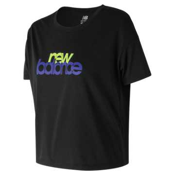 New Balance Essentials Merge Tee, Black