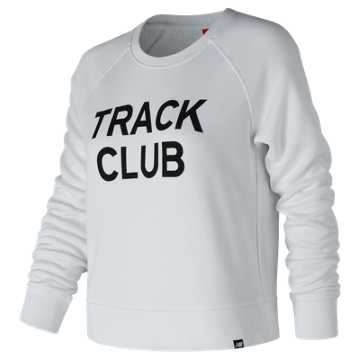 New Balance Essentials Track Club Crew, White