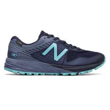 New Balance 910v4 Trail GORE-TEX®, Pigment with Porcelain Blue