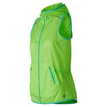 New Balance Windcheater Vest, Lime Glo