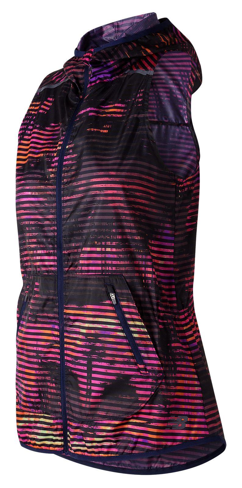 NB Windcheater Printed Vest, Striped Velocity