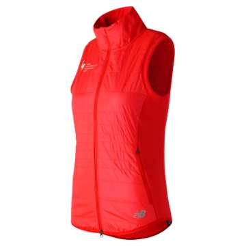 New Balance NYC Marathon NB Heat Hybrid Vest, Energy Red