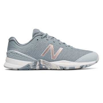 New Balance Minimus 40 Trainer, Light Porcelain Blue with Rose Gold