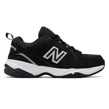 New Balance Womens 608v4, Black with White