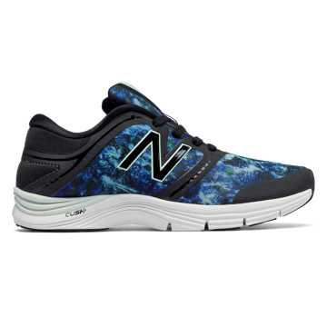 New Balance 女子训练跑鞋 711v2 Graphic Trainer, 蓝色/黑色
