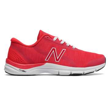 New Balance 711v3 Heathered Trainer, Energy Red with White
