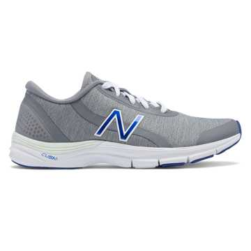 New Balance 711v3 Heathered Trainer, Steel with Blue Iris