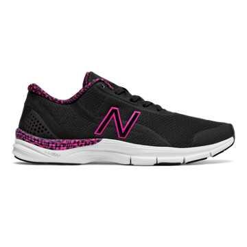New Balance Pink Ribbon 711v3 Mesh Trainer, Black with Komen Pink