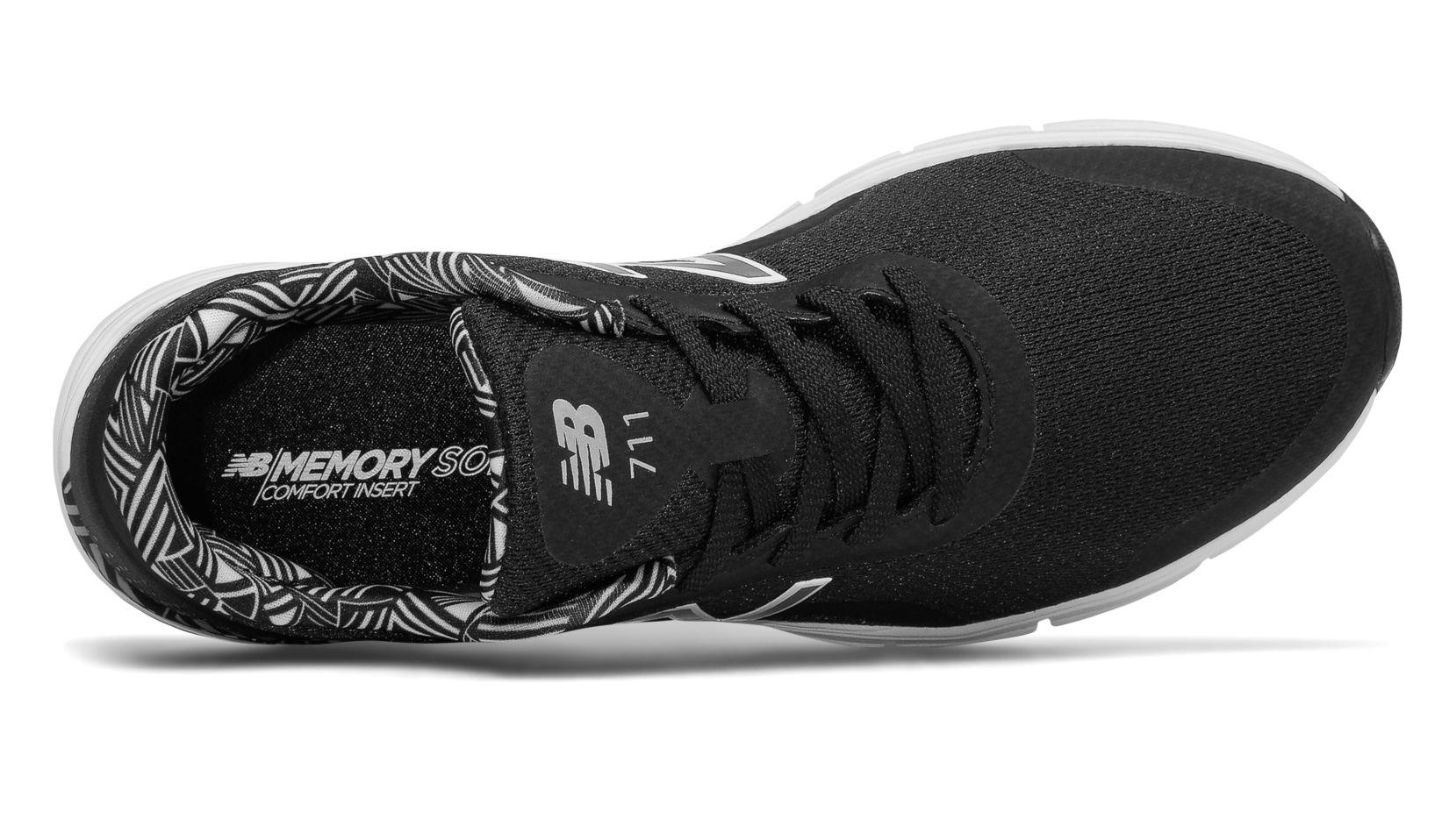 New Balance 711v3 Mesh Trainer, Black with White