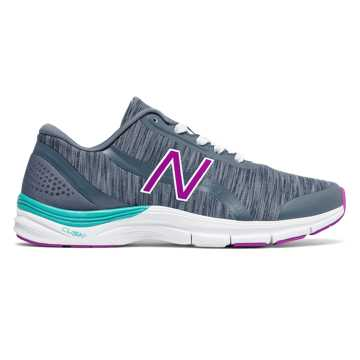 New Balance 711v3 Heathered Trainer, Thunder with Poisonberry & Pisces