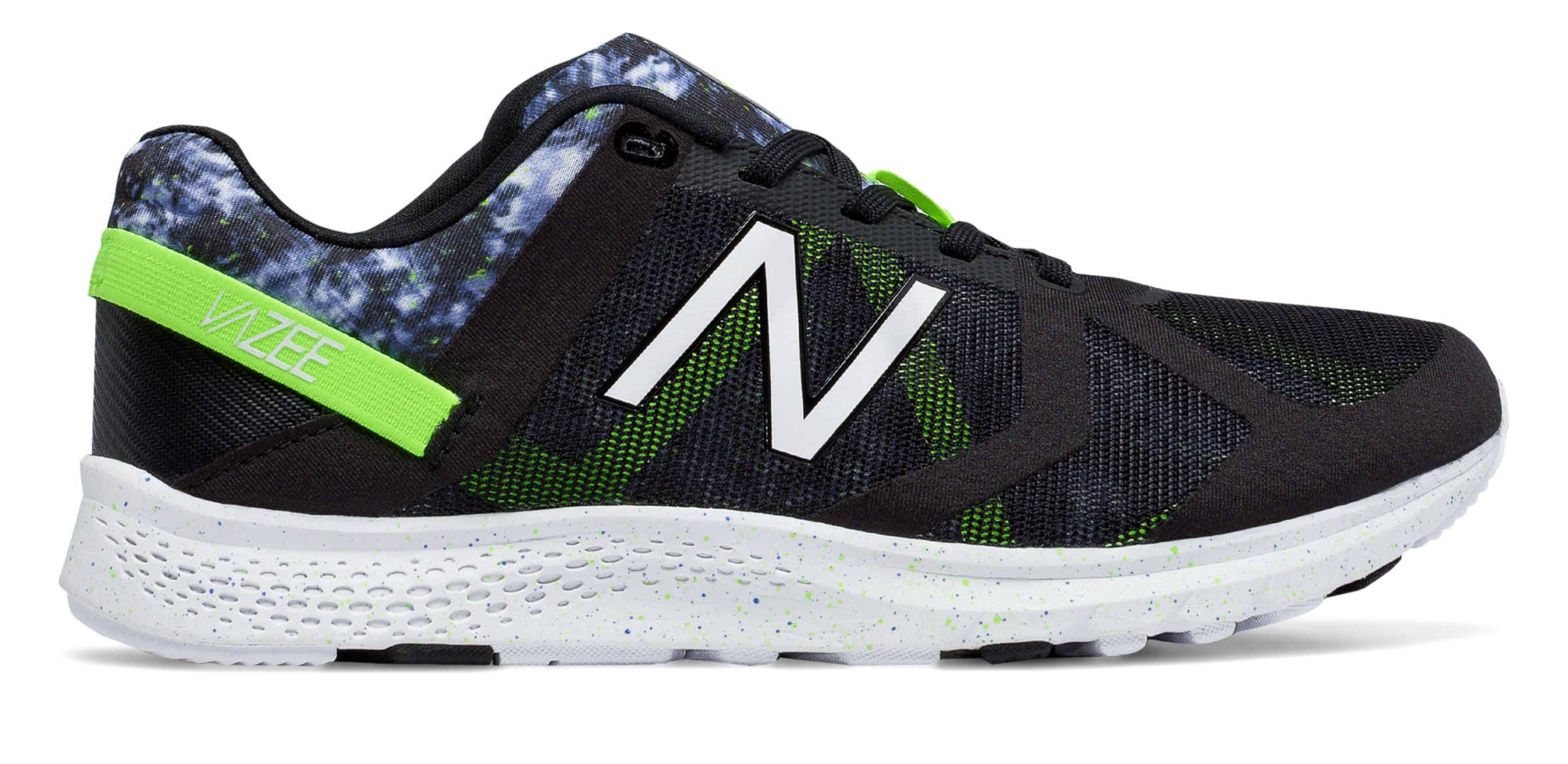 NB Vazee Transform Graphic Trainer, Black with Lime Glo & Grey