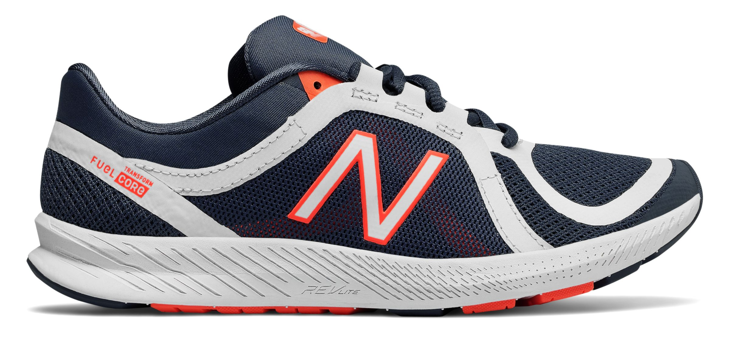 NB FuelCore Transform v2 Mesh Trainer, Vintage Indigo with White & Vivid Tangerine