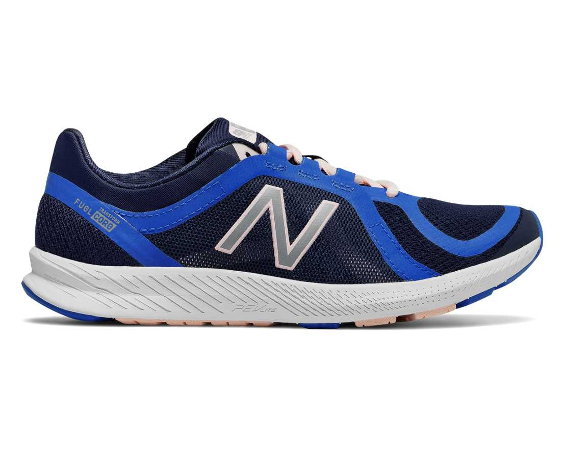 New Balance FuelCore Transform v2 Mesh Trainer, Pigment with Vivid Cobalt Blue & Sunrise Glo