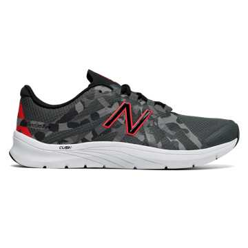 New Balance 811v2 Graphic Trainer, Black with Energy Red & Grey
