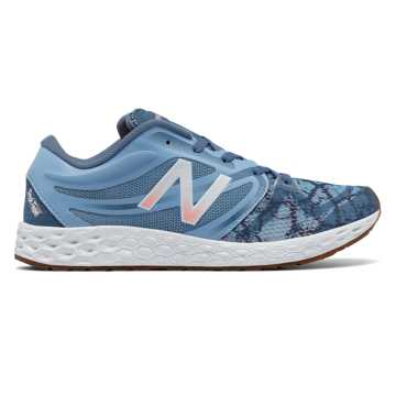 New Balance Fresh Foam 822v3 Graphic Trainer, Deep Porcelain Blue with Bleached Sunrise