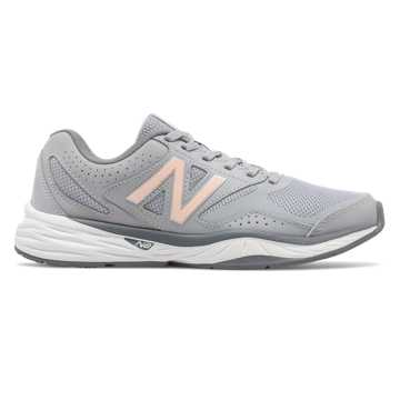 New Balance New Balance 824 Trainer, Grey with Guava