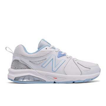 New Balance Womens New Balance 857v2, White with Light Blue