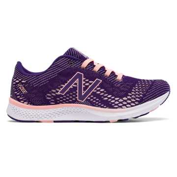 New Balance Vazee Agility v2 Trainer, Black Plum with Bleached Sunrise
