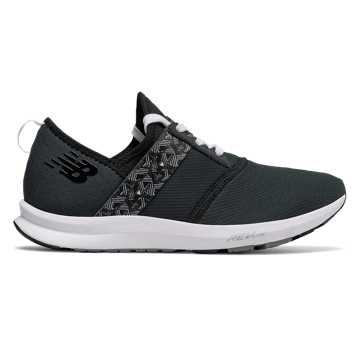 New Balance FUEL系列 女款 舒适透气 时尚运动, Black with Grey