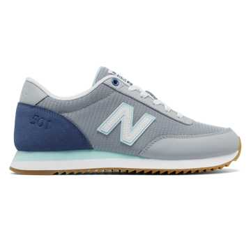 New Balance 501 Ripple Sole, Silver Mink with Deep Porcelain Blue & Ozone Blue Glow