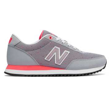 New Balance 501 Heritage, Silver Grey with Guava