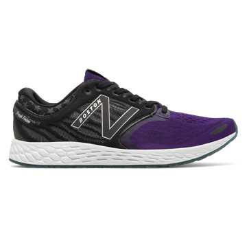 New Balance Fresh Foam Zante v3 Boston, Black with Black Plum & Magnet