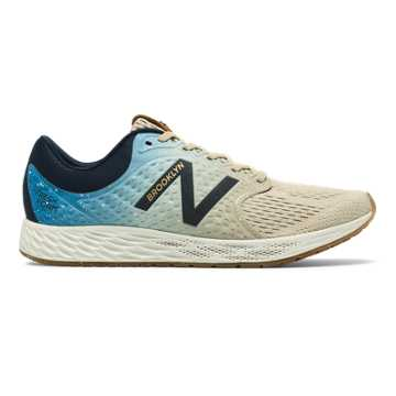 New Balance Women's Fresh Foam Zante v4 Brooklyn Half, Black with Techtonic Blue