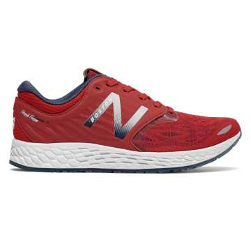 New Balance Fresh Foam Zante v3 Ballpark, Team Red with Metallic Silver & Pigment