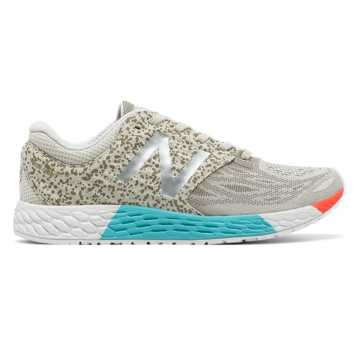 New Balance Fresh Foam Zante v3 Protect Pack, Light Grey with White & Turquoise