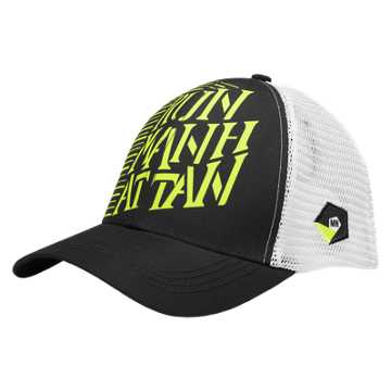 New Balance Manhattan Technical Trucker Hat, Black with Hi-Lite