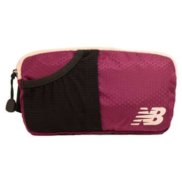 New Balance Performance Waist Pack, Burgundy with Conch Shell