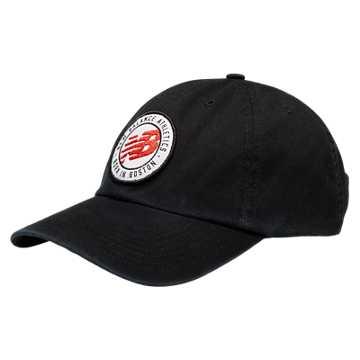 New Balance 6 Panel Curved Brim Hat, Black