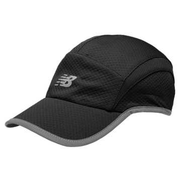 New Balance 5 Panel Performance Hat, Black