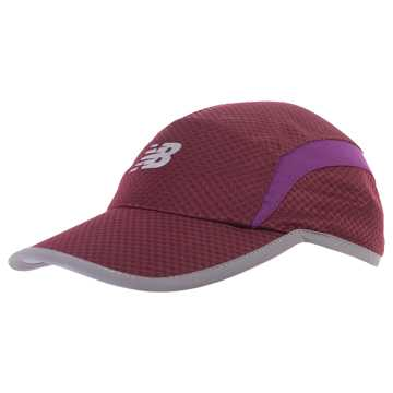 New Balance 5 Panel Performance Hat, Claret