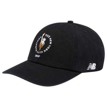 New Balance NYC Marathon 6 Panel Curved Brim Finisher Cap, Black