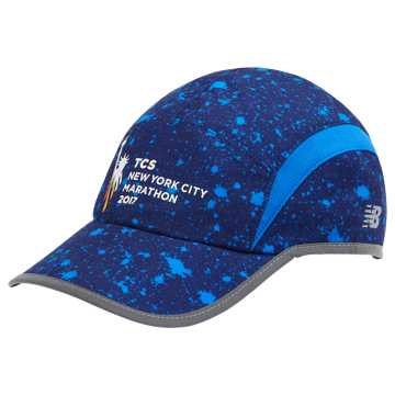 New Balance NYC Marathon 5 Panel Performance Printed Hat, Blue