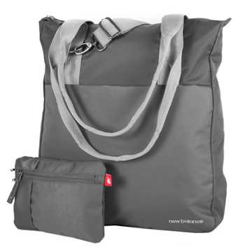New Balance LSE Zip Tote with Pouch, Grey