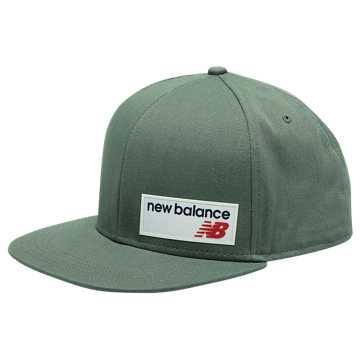New Balance 6 Panel Flat Brim LSE Hat, Green