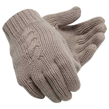 New Balance Womens Luxe Knit Gloves, Flat White
