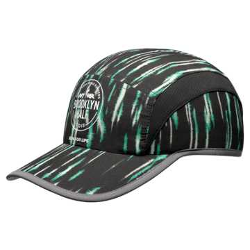 New Balance Brooklyn Half Cap, Black with Teal