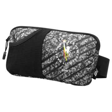 New Balance NYC Marathon Performance Waist Pack, Black with Grey