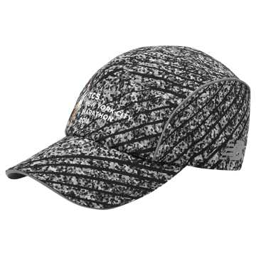 New Balance NYC Marathon Laser Perf Run Cap, Black with Grey