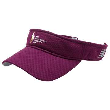 New Balance NYC Marathon Performance Visor, Claret