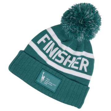 New Balance NYC Marathon Finisher Pom Beanie, Teal