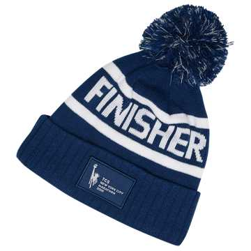 New Balance NYC Marathon Finisher Pom Beanie, Navy