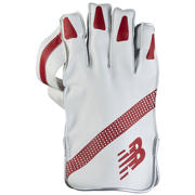 New Balance TC560 Glove, White with Red